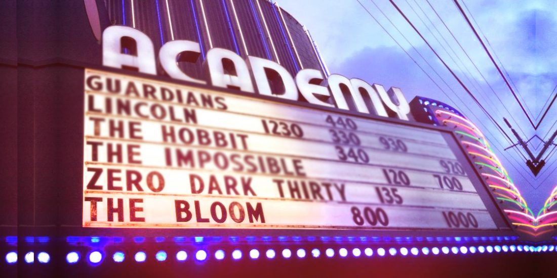 The Bloom Portland Oregon Screening Marquee