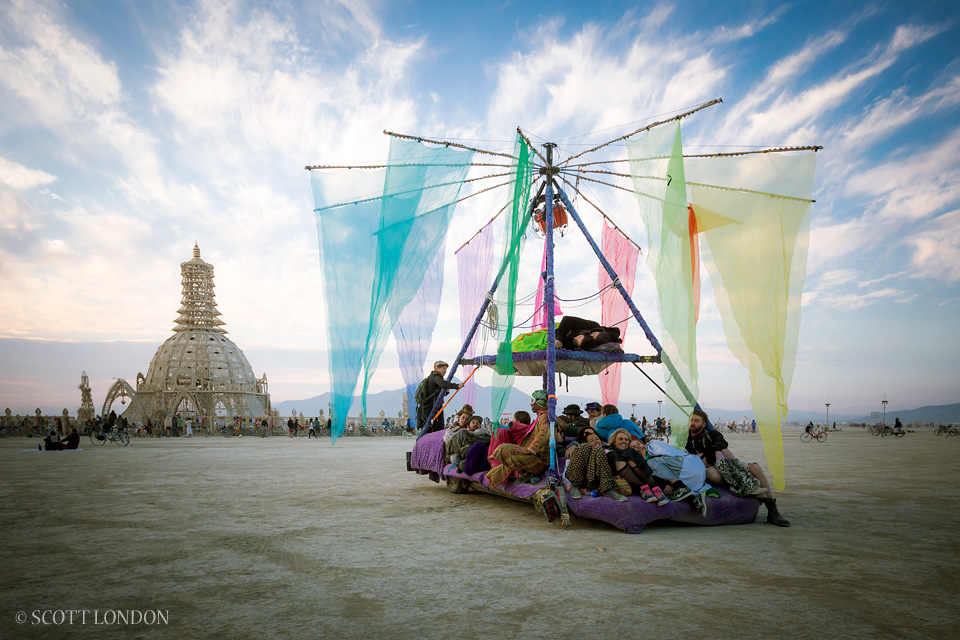 Magic Carpet Ride at Burning Man, Nevada, USA